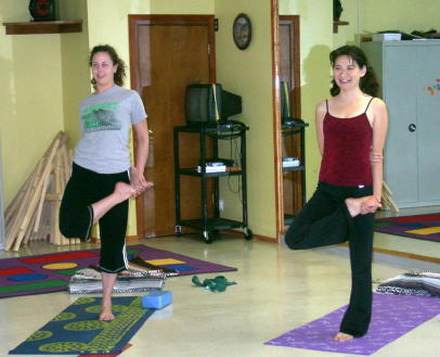Taken October 2006, these yoginis are still at the Y!